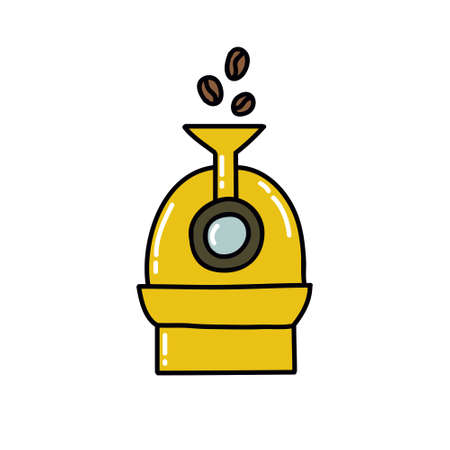 coffee roaster doodle icon, vector illustration 向量圖像