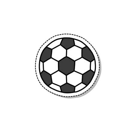 soccer ball doodle sticker icon, vector illustration 向量圖像