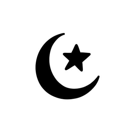 symbol of islam doodle icon, vector illustration