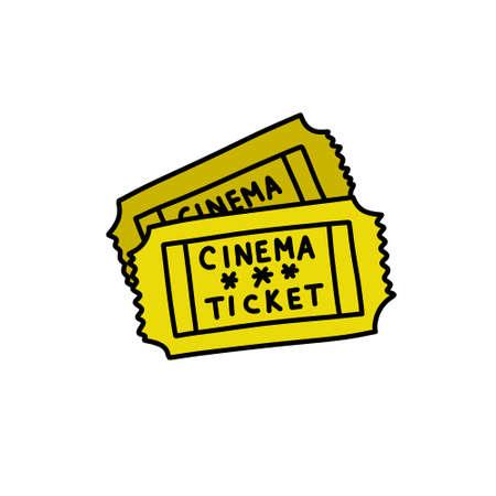 cinema tickets doodle icon, vector illustration Vettoriali