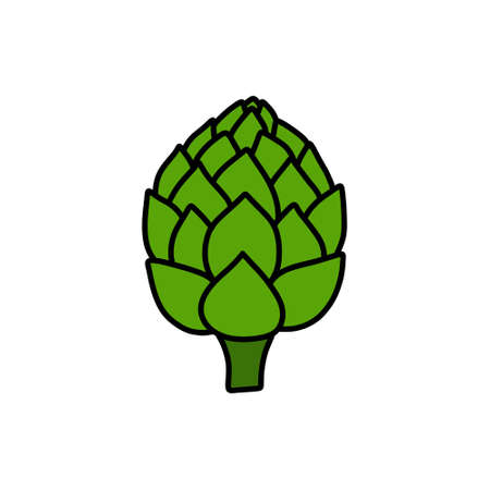 artichoke doodle icon, vector color line illustration Stok Fotoğraf - 156579928