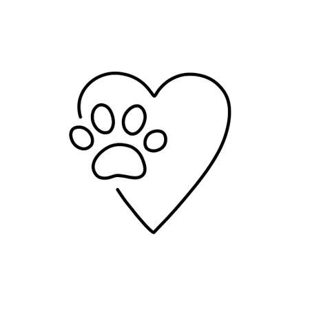 shelter donation doodle icon, vector line illustration