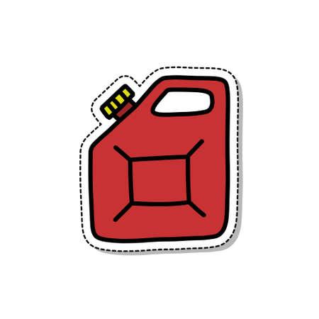 canister doodle icon, vector color sticker illustration Stok Fotoğraf - 158027870