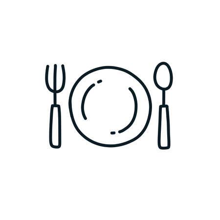 dinner sign doodle icon, vector color illustration Stok Fotoğraf - 158028032