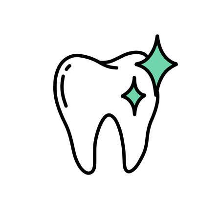 teeth whitening doodle icon, vector illustration Vecteurs