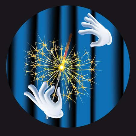 meteor shower: magic sparkle Illustration