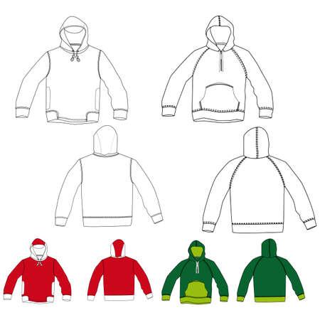 hooded: Hooded shirt Illustration