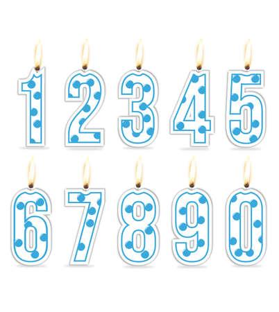 Numeral birthday candles boy Illustration