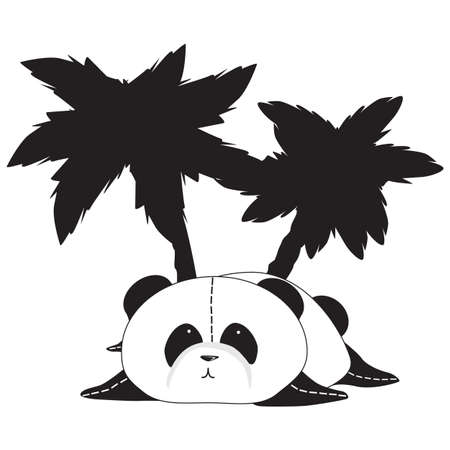 pandabeer: Panda beer Stock Illustratie