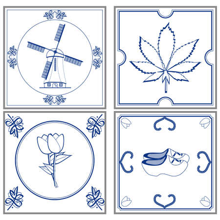 delftware: dutch tiles Illustration