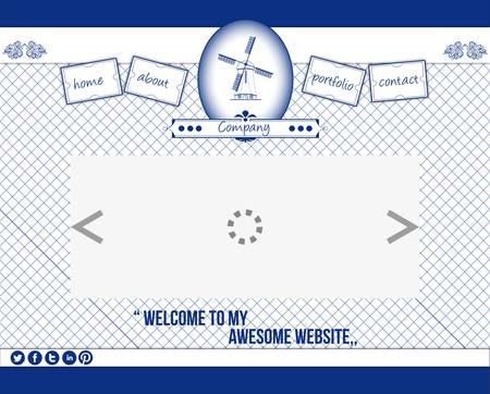 Delftware web template 1 Stock Vector - 17612778