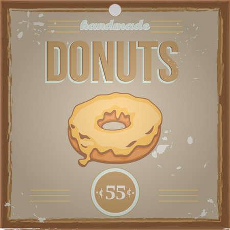 Vintage donut poster
