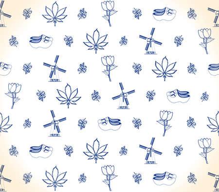 marihuana leaf: Dutch object pattern Illustration