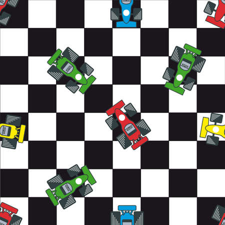 Seamless racing pattern Illustration
