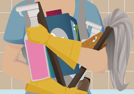 cleaning services: Spring cleaning Illustration