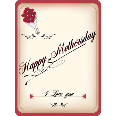 mother'sday: Vintage greeting card for mothersday