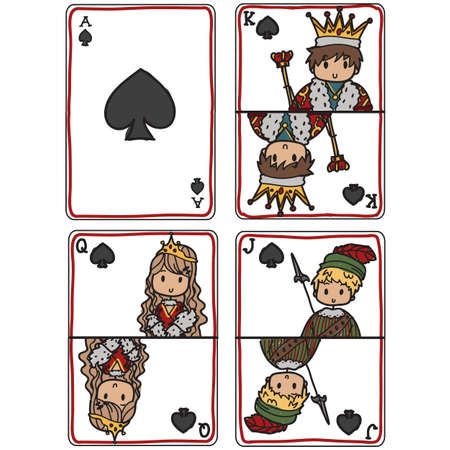 knave: Set of pictured game cards Illustration