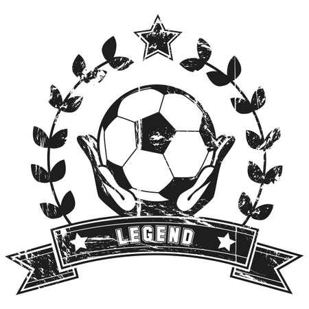 Vintage soccer poster Stock Vector - 19907701