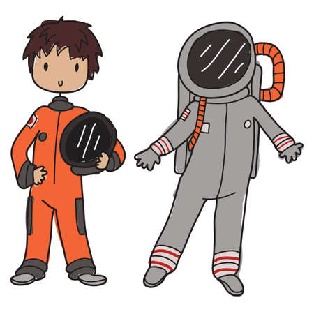 Image of an astronaut and his space suit Stock Vector - 20478106