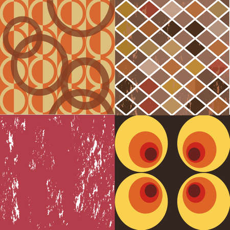 Set of four different retro backgrounds Stock Vector - 20955369