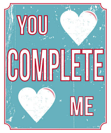 Vintage style love poster Stock Vector - 21649392