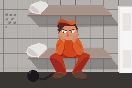 prisoner thinking about his mistakes