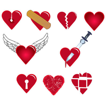 cliche: conjunto de formas de coraz�n para diferentes emociones