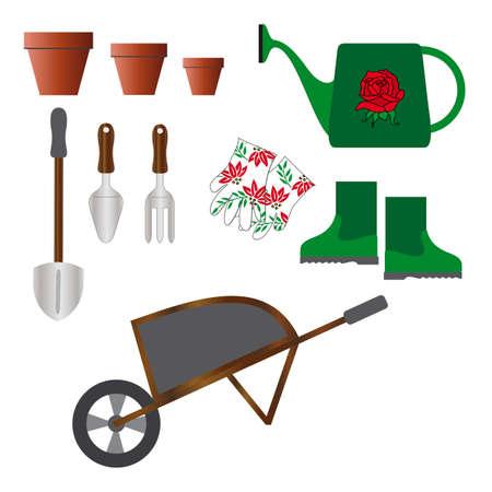 weeder: Gardening tools Illustration