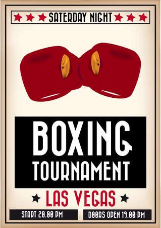locandina arte: Boxe manifesto Vettoriali