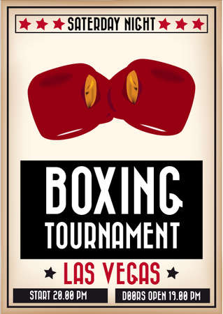 Boxing poster Vector
