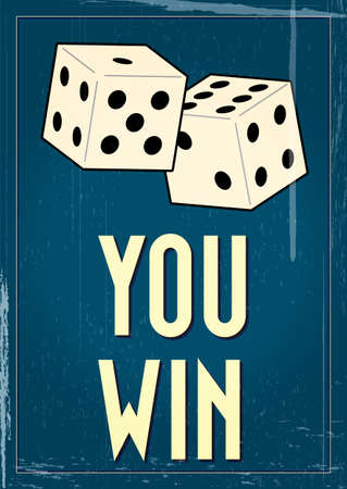 Vintage craps poster with retro grunge effects Vector