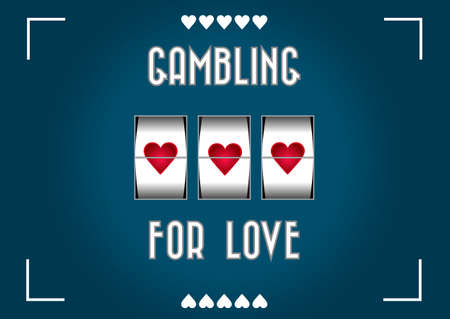 Gambling for love Vector
