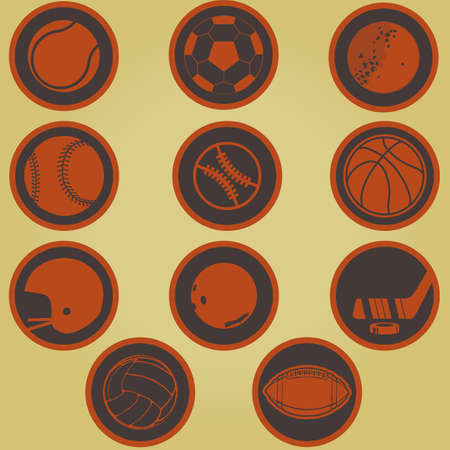 american football helmet set: Sport icons vector