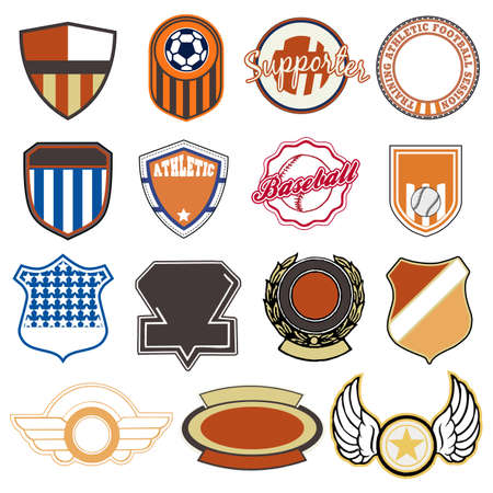 football trophy: Sport badges Illustration