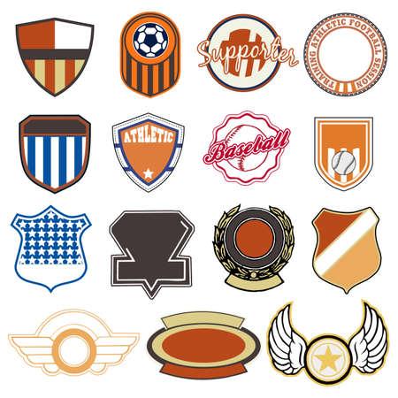 Sport badges Ilustração