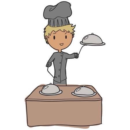 Young chef vector