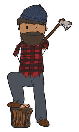 woodsman: vector lumberjack Illustration