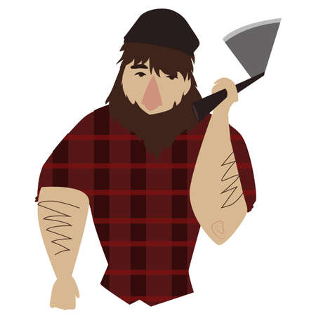 vector lumberjack Illustration