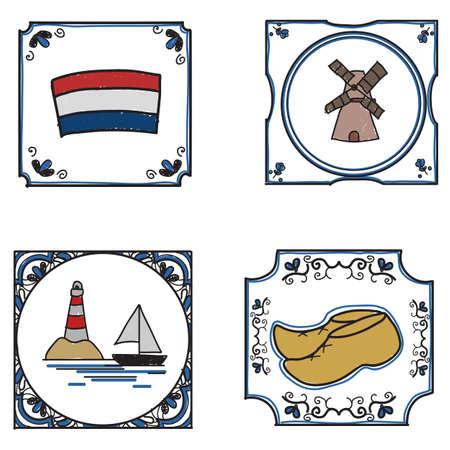 dutch tiles: traditional freehand drawn dutch tiles