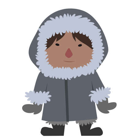 cartoon eskimo 일러스트