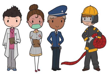 servicios publicos: trabajadores de servicios de emergencia