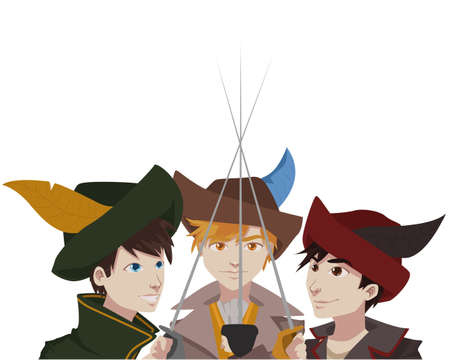 three musketeers vector