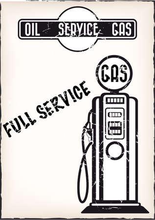 vintage service station poster vector