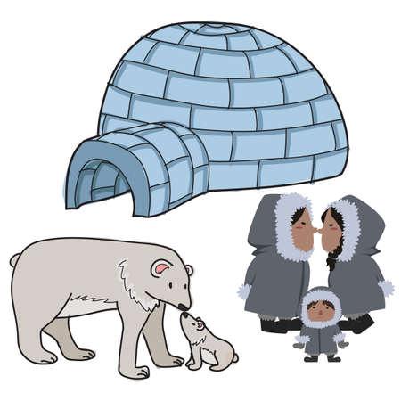 eskimo elements Illustration