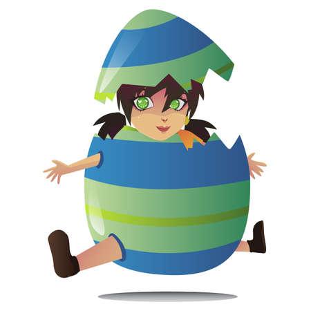 jumping egg vector Stock Vector - 27438686