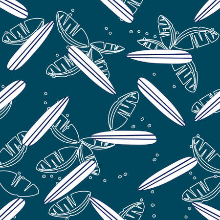 seamless surfing pattern vector Vector
