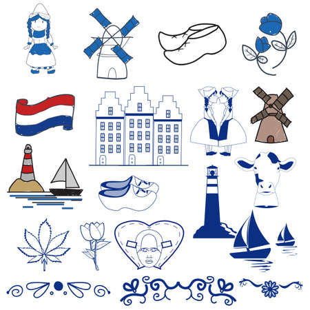 delftware: dutch design elements Illustration