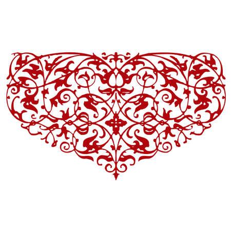ornamental red heart shape Illustration
