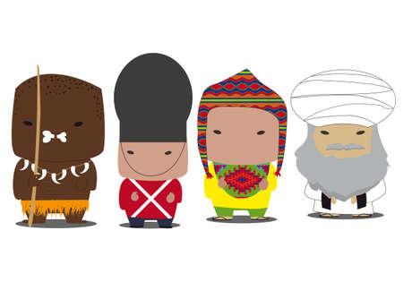 world ethnic characters