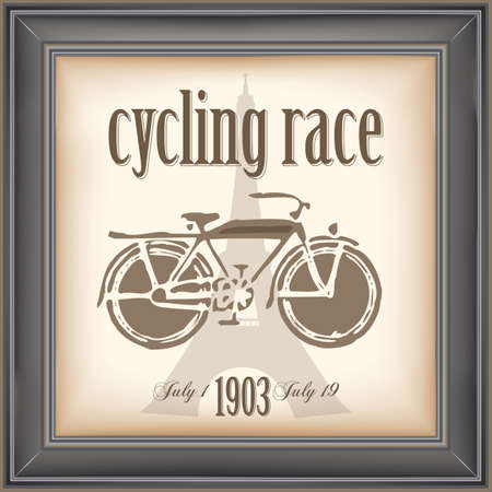 vintage cycling race poster 일러스트